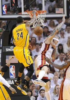 Is Paul George's dunk on Birdman dunk of the playoffs