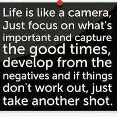 Life is like a camera