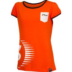 Showcase your support on game day with a Perth Scorchers Ladies Puff Sleeve Pocket T-Shirt. This cute t-shirt features puff sleeves, a patch pocket and the club's logo on the chest.