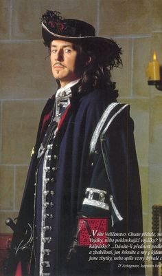 Other Movies/Shows Costume Appreciation Thread - PIC HEAVY Man in the Iron Mask. Costumes by James Acheson. Musketeer Costume, The Three Musketeers, Musketeers Cast, Gabriel Byrne, Period Costumes, Men's Costumes, Masked Man, Beautiful Costumes, Movies Showing