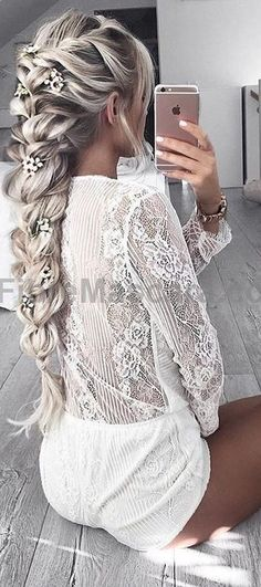 White Playsuit Source
