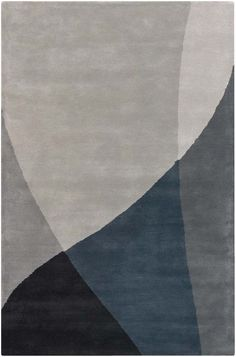 Gray, Blue, and Purple Contemporary Rug