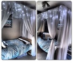 diy canopy bed with lights - Several ideas would work with our canopy!