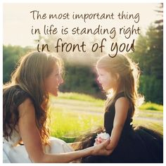 So sweet and good to remember what's really important in life!