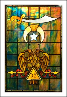 Masonic Symbol, Stained Glass by Tony Fischer Photography, via Flickr