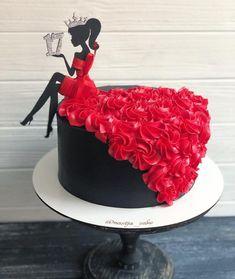 Birthday Cake For Women Elegant, Elegant Birthday Cakes, Cute Birthday Cakes, Beautiful Birthday Cakes, Elegant Cakes, Beautiful Cakes, Elegant Desserts, Unique Cakes, Easy Desserts