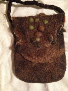 Felted handbag brown by faglar on Etsy