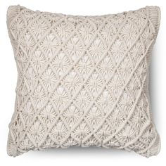 Threshold Macrame Throw Pillow (265 CAD) ❤ liked on Polyvore featuring home, home decor and throw pillows