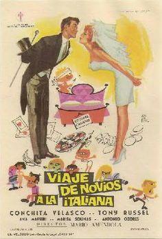 """Concha Velasco: """"viaje de novios a la italiana"""" 1965.."""