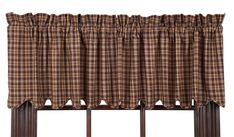Prescott Lined Scalloped Curtain Valance 72 x 16