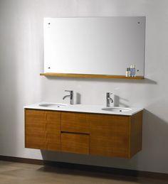 Fellino55-H-Front double vanity  Cedar vanity
