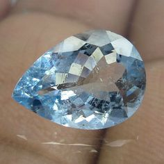 2.5 Carat Top Natural Faceted HIGH QUALITY Aquamarine 11.7x8.6 MM Pear Cut Stone #AquamarineTraders