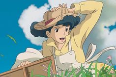 Some random pictures from the new Hayao Miyazaki film, 風立ちぬ Kaze Tachinu, or The Wind Rises in English. It's really the best love story Ghibli has ever made. We have the 2014 calendar on the site if. Hayao Miyazaki, Studio Ghibli Films, Art Studio Ghibli, Studio Ghibli Characters, Good Animated Movies, Chihiro Y Haku, Le Vent Se Leve, Wind Rises, Aesthetic Anime
