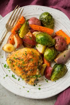 Sheet Pan Roasted Chicken with Root Vegetables - Cooking Classy