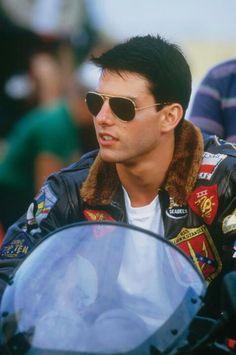 "Tom Cruise as Lt. Pete ""Maverick"" Mitchell in Top Gun (1986)"
