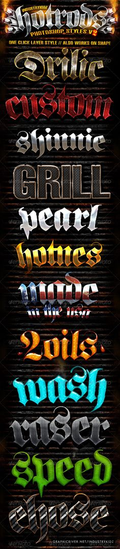 Hotrods Photoshop Styles V2 - Text Effects Styles
