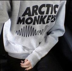 Arctic Monkeys Grey CrewNeck - Fresh-tops.com
