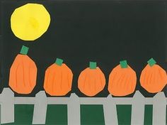 Five little pumpkins..aww, i remember doing this when i was little!! might have to do this:)