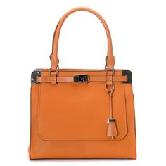 Michael Kors Blake Logo Medium Orange Satchels Outlet