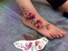 52 Gorgeous Foot Tattoo Design Ideas Small tattoos are cute and lovely. Floral tattoos are always highly popular among women. Last Words Foot tattoos are certainly […] Anklet Tattoos, Leg Tattoos, Body Art Tattoos, Vine Foot Tattoos, Tatoos, Flower Foot Tattoos, Pretty Tattoos, Unique Tattoos, Beautiful Tattoos