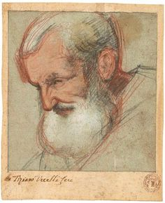 Head of an Old Man Turned to the Left | Jacopo Bassano | The Morgan Library & Museum