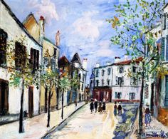 Maurice Utrillo Street In Poissy oil painting reproductions for sale
