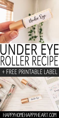 , DIY Under Eye Roller Blend + Free Printable Roller Label , This roller blend is filled with the best essential oil for eye bags and the best oils for under eye wrinkles. It's super easy to make and natura. Essential Oils For Asthma, Essential Oil Blends, Essential Oil Bags, Essential Oil Roller Bottles, Edens Garden Essential Oils, Homemade Essential Oils, Essential Oils For Headaches, Frankincense Essential Oil, Young Living Oils