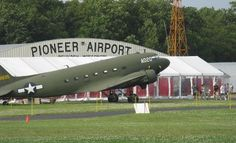 EAA's Pioneer Airport-Grass Runway. The EAA AirVenture is the largest air show in the world.  Oshkosh.