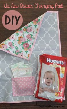 Get the tutorial on how to make this DIY No-Sew Diaper Changing Pad when you click the picture! Also, get the details on why I'm loving Huggies® Little Snugglers diapers and Huggies® Natural Care wipes. Hint: They take great care of baby's skin & are offered at a great value! ad #SkinCareForBaby