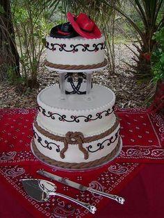 Country wedding cake