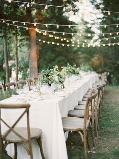 Rustic enchanted camp wedding table decor: Photography: Lexia Frank - http://www.lexiafrank.com/