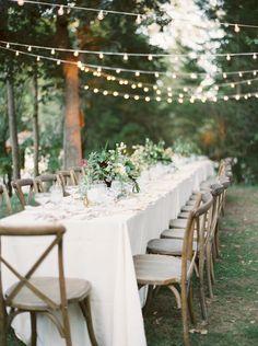 Rustic enchanted camp wedding table decor: Photography: Lexia Frank - http://www.lexiafrank.com/