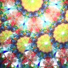 Easter colors kaleidoscope