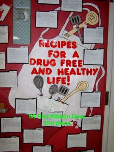 red ribbon week door decorating contest - Google Search