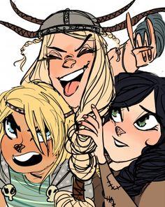 The girls of Berk