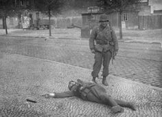 not sorry..    Photo taken in the Sieverstor Strasse, Magdeburg, Germany - 1945