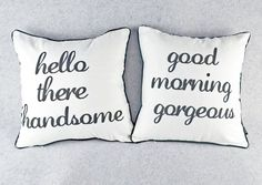 Set Of 2 Mr And Mrs Home Decor Black White Husband Wife Throw Pillow Cover Cushi