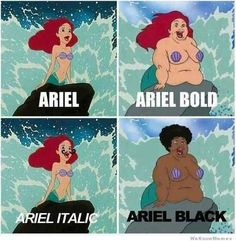 Gives you font options | 10 Funniest Disney Memes
