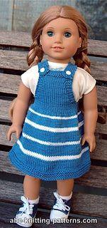 American Girl Doll Fair Skies Jumper pattern by Elaine Phillips