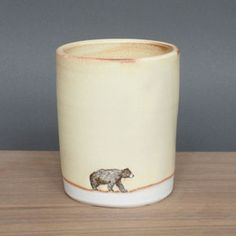 Love these adorable hand-made mugs, tumblers, and bowls by Susannah K. Tisue on Fab.com. If they weren't so expensive, i'd have them all! Very cute and classy.