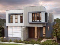 Scyon Matrix cladding- Looks great on this multi-material facade Interior Cladding, House Cladding, Facade House, Exterior Wall Design, Facade Design, Modern Exterior, Exterior Paint, Duplex Design, House Design
