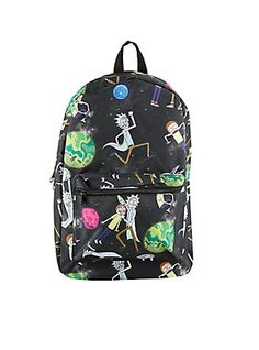 Rick And Morty Universe Print Backpack,