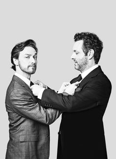 james mcavoy and michael sheen, original photography by robert wilson