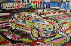 "Saatchi Art Artist Giovanni Gabassi; Painting, ""BMW Alpine"" #art"