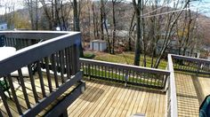 New two tiered deck with safety gates.