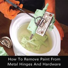 How To Remove Paint From Hinges And Hardware...http://homestead-and-survival.com/how-to-remove-paint-from-hinges-and-hardware/