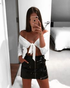 Super Skirt Outfits Summer Going Out Ideas Mode Outfits, Skirt Outfits, Trendy Outfits, Fashion Outfits, Fashion Ideas, Cute Outfits For Party, Black Skirt Outfit Party, Fashion Hats, Simple Outfits