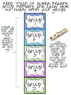 """use as my groups """"maker"""" and change the clothespins around when needed!"""