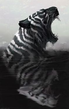 big cats and things Big Cats Art, Cat Art, Mythical Creatures Art, Fantasy Creatures, Fantasy Beasts, Fantasy Art, Tiger Artwork, Lion Art, Anime Animals