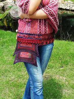 Vintage Hmong Hill Tribe Belt Bag